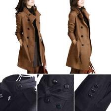5XL Women Outwear Winter Long Slim Trench Parka Coat Jacket Overcoat Peacoat