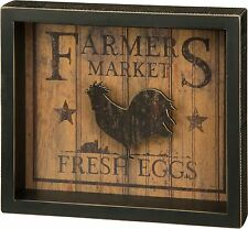 Vintage Farmers Fresh Eggs Wood Sign Farmhouse Rooster Decor Primitives by Kathy