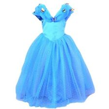NEW Cinderella Princess Blue Sparkly Party Dress-Up Butterfly Play Dress 4-7 yrs