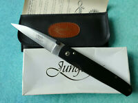 Junglee JAPAN Black Babylon Folding Knife - NEW Seki AUS-8 Fine Edge Blade & Box