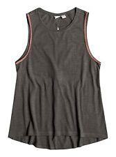 Roxy Woman Fremont Peak A Sleeveless Charcoal Gray Tank Top Tee Sz Medium