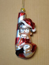Betty Boop ORNAMENT GLASS CANDY CANE DESIGN