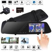 """XGODY 5"""" HD Double Lentille Caméra +32GB Voiture DVR Vidéo Enregistreur Dash Cam"""