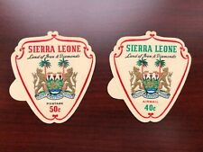 Sierra Leone 1965 Scott #316+C55, MI #348-349 Self-Adhesive Coat of Arms Mint LH