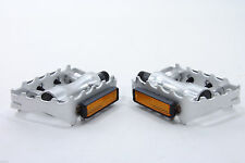 """RALEIGH REA418 MTB ALLOY PEDAL 9/16"""" ALLOY CAGE ALLOY BODY 50% OFF RRP SILVER"""