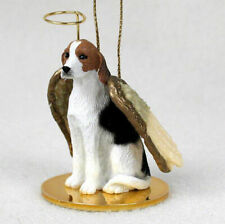 American Foxhound Ornament Angel Figurine Hand Painted