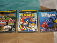 Sonic Mega Collection / Namco Museum / Finding Nemo Nintendo GameCube *Lot of 3*