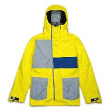 BONFIRE BLUR MEN'S MEDIUM LONG YELLOW/BLUE/GRAY WINTER SKI SNOWBOARD JACKET NEW!