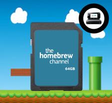Wii U Modded Homebrew SD Card 64GB (20 Wii U Games!)