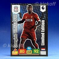 Panini Adrenalyn XL 2019-2020: Wijnaldum Limited Edition. Liverpool. Premier
