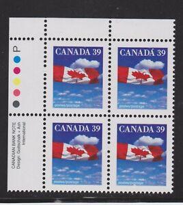 1989 Canada SC# 1166 UL - Domestic First-Class Rate - Plate Block M-NH # 3113