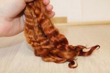 """Mohair Doll hair TOBACCO 5 """" Mohair locks Angora Goat 0.35 oz Mohair Reborn doll"""
