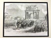 1856 Russian Royalty Antique Print Tsar Alexander II Romanov Moscow Russia