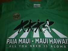 "PAIA MAUI  MAUI HAWAII "" ALL YOU NEED IS ALOHA "" BEATLES SURFBOARDS FIN BEACH M"