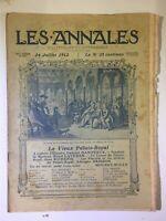 Les Annales N°1516 - 14 juillet 1912 - Partition musique