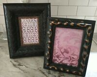 Vintage Ornate PICTURE FRAME Lot Recycle Art shabby chic Deco Scroll black gold