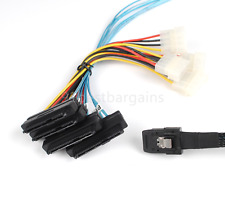 1M Mini SAS 36Pin SFF-8087 to SAS 29Pin SFF-8482 w/ 4-Molex Power Cable with IDE
