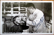 1940 Signed Realphoto Movie Star Postcard: Chingwah Lee Autograph, Butch Jenkins