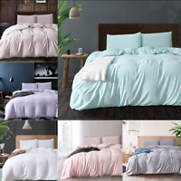 Cotton Duvet Cover&Pillowcases Quilt Cover Bedding Sets Twin Queen King US Size