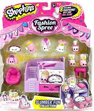 Shopkins Fashion Spree Slumber Fun Playset Collection 8 Pk Exclusive New Sealed