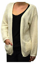 Ladies Cardigan Long Sleeve Fleece Knitted Winter Top