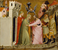 Painting Master Golden Gate Meeting Of Anna And Joachim Canvas Art Print