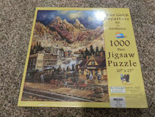 Sunsout Silver Gulch Departure Art By Ted Blaylock Puzzle 1000 pc NIB
