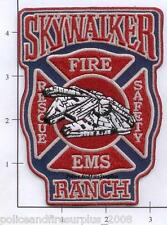 California - Skywalker Ranch CA Fire Rescue EMS Fire Dept Patch Star Wars v1