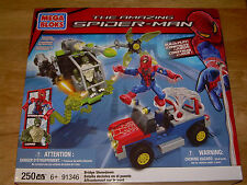 NIB Marvel Mega Bloks 91346 The Amazing Spider-Man BRIDGE SHOWDOWN 250pcs Lizard