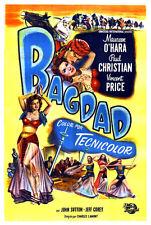 Bagdad Maureen O'Hara Vincent Price movie poster print 2