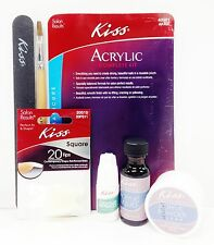 KISS ACRYLIC COMPLETE KIT NAIL GLUE FILE TIP ACRYLIC POWDER ACRYLIC LIQUID AK450
