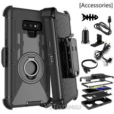 RUGGED ARMORED HYBRID CASE COVER CLIP HOLSTER FOR SAMSUNG GALAXY PHONES STAND