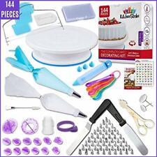 Kitchen Strike Cake Decorating Kit - 144Pcs Baking Supplies & Bonus Accessories
