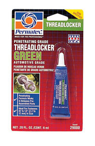 NEW! PERMATEX Penetrating Grade Threadlocker 6ML GREEN 29000