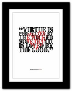 Don Quixote ❤ typography VIRTUE quote poster art print inspirational #224
