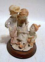 Duncan Royal Fine Porcelain 3 Children Reading Story Book Figurine Statue