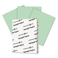 Springhill Digital Index Color Card Stock 90 lb 8 1/2 x 11 Green 250 Sheets/Pack