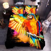 Parrot Quilt Doona Duvet Cover Set Single/Double/Queen/King Bed Linen
