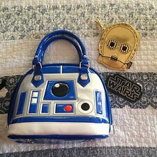 NWOT Loungefly Disney Star Wars R2D2 Dome Bag Purse with C-3PO Coin