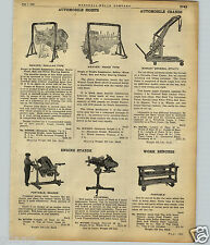 1922 PAPER AD Weaver Car Automobile Hoist Manley Engine Motor Crane Stand