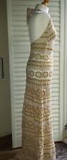 Day Birger et Mikkelsen for Net-a-Porter crochet maxi halter neck dress  NWT 38