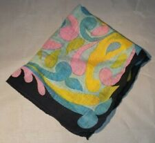Vintae Ladies Handkerchief Colorful 14 x 14""