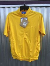 """Performance Classic cycling jersey, short sleeve, 12"""" zip, 3 pockets, NOS, gold"""