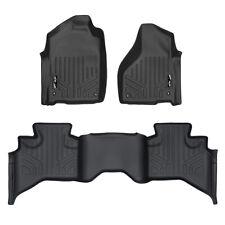 SMARTLINER All Weather Custom Fit Floor Mats Liner Set for RAM Quad Cab Black
