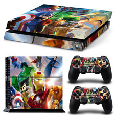 PS4 Skin Sticker Decal Cover 2 Controllers LEGO MARVEL SUPER HEROES