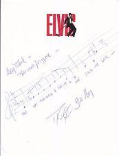 Mike Stoller Jailhouse Rock  handwritten music & lyrics Elvis Presley song