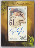 2019 Topps Allen and Ginter Framed Mini Autographs Justus Sheffield Auto RC