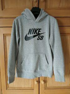 Boys Nike Grey Hoodie Age 12-13
