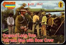 Strelets Models 1/72 CRESOUT LONG TOM 155mm GUN WITH BOER CREW Figure Set