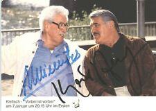 Mario Adorf Willy Millowitsch UH Film TV Serie Autogrammkarte original sign 5305